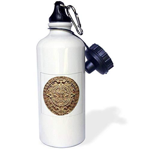 qidushop Maya-Kalender, Weiß, Sport-Wasserflasche, Geschenk für Freunde, Damen, Tante 535 ml