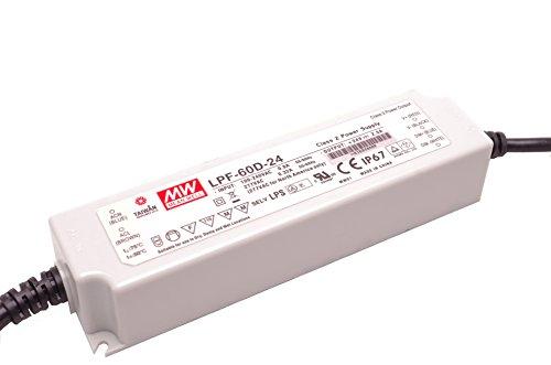 Preisvergleich Produktbild LED Treiber Dimmbares LED Netzteil MeanWell LPF-60D-24 60 W 24 V/DC 2,5 A LED Konstantspannung