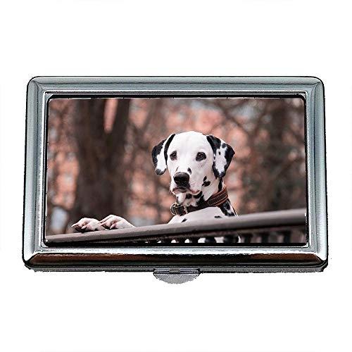Zigarettenetui Box, Dalmatiner Hunde Haustier gut, Visitenkartenetui Visitenkartenetui Edelstahl