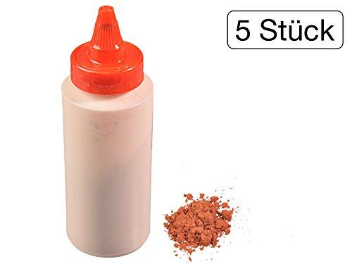 500 Gramm Nachfüllfarbe Pulver für Schlagschnurgerät in Rot (500g Pulver Flasche)