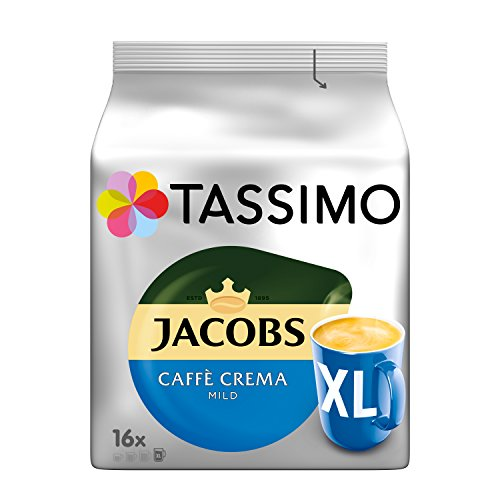 Tassimo Jacobs Caffè Crema Mild XL, 5er Pack Kaffee T Discs (5 x 16 Getränke)