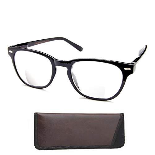 Boomer Eyeware Die Panorama - Qualität Bifocal Lesebrille - Lesebrille Sie können tragen die ganze Zeit!, 0, 1 1.5 Schwarz