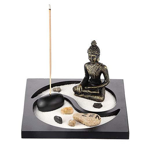 Prime Feng Shui Sand Rocks Zen Garden Buddha Statua Taiji Yin Yang da Tavolo Mini Kit da Giardino bruciatore di incenso Regalo