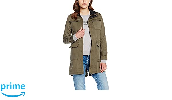 Pepe Jeans Damen Barzie Mantel, Grün (Khaki Green 765), 36  (Herstellergröße  X-Small)  Amazon.de  Bekleidung 5dac9e4317