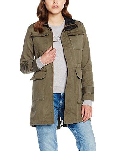 Pepe Jeans Damen Barzie Mantel, Grün (Khaki Green 765), 38 (Herstellergröße: Small)