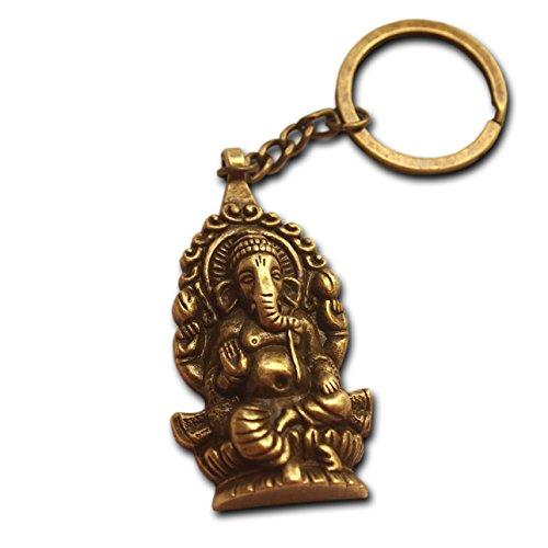 Ganesha Buddha elefante llavero bronce antiguo plateado regalo para hombres llavero regalo hindú dios de los nuevos comienzos mitología misticismo