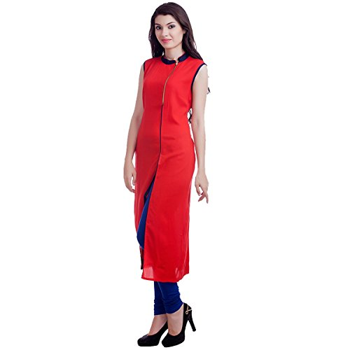 Kiteshop Women\'s Cotton Kurti (WKK22_Red_Free Size)