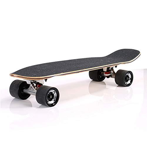 YUSDP Mini Bamboo Skateboards - Frosted Anti-Rutsch-Design - Hochpräzises Stahllager - Verbreiterung des Rades für mehr Reibung - An Anfänger angepasst 28 * 8 in