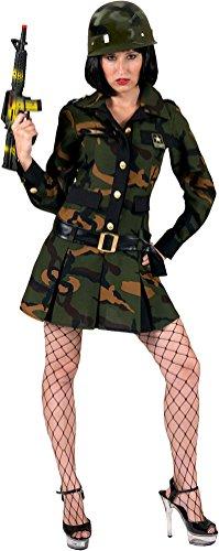 oldaten Kostüm Damen Soldatin Damenkostüm camouflage Kleid Größe 40/42 (40 Militär Kostüme)