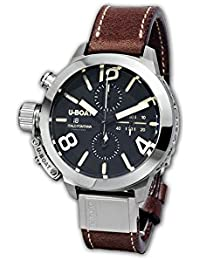 U-Boat Classico reloj automático, tungsteno, negro, 50mm, cronógrafo, 7432/A