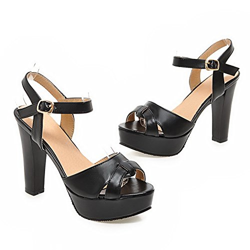 1to9, Sandales Femme Noir