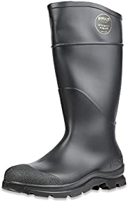 "Servus Comfort Technology 14"" PVC Steel Toe Men's Work Boots, Black, Size 1"