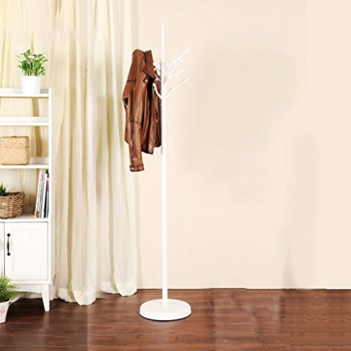 SKC Lighting-Porte-manteau Floor Bedroom Hanging Hanger Continental Simple Clothes Rack Coat Rack (Couleur : Blanc)