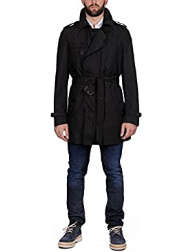 Burberry Hombre 387304900100 Negro Poliéster Trench Coat