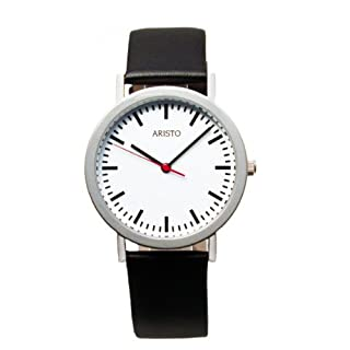 Aristo 3H03 – Wrist Watch, Leather Strap Black
