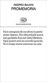 Promemoria (Collezione di poesia Vol. 450) di [Bajani, Andrea]