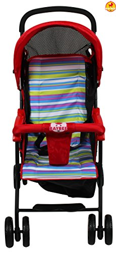 BAYBEE Shade- Baby Buggy Stroller (Red) 1 Pcs