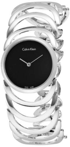 Calvin Klein Damen-Armbanduhr Analog Quarz Edelstahl K4G23121