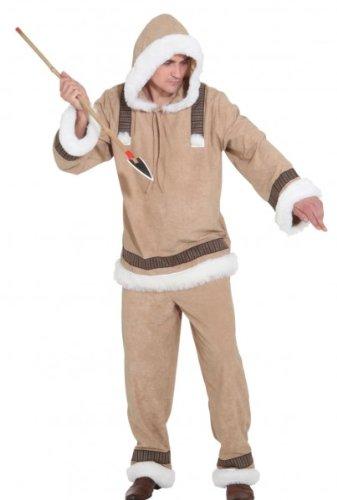 Orlob PARTY DISCOUNT ® Herren-Kostüm Eskimo Mann de Luxe, Gr. 50-52 (Eskimo Kostüm Weiß)