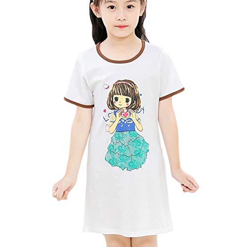 Mädchen Nachtwäsche Kleid Cartoon Loose Fit Pyjamas Nacht Homewear Einteiler Kleid für Alter 3-10 Jahre Alt