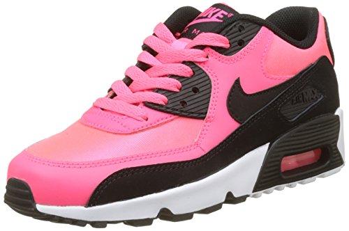 Nike Jungen Air Max 90 Mesh Gg Gymnastikschuhe, Mehrfarbig (Racer Pink/Black/White), 38 EU (Schwarz Pink Nike)