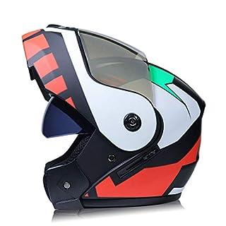 DanNN Motorrad Full Face ECE Helm-YEMA YM-829 Racing Motorcycle Helmet mit Sun Visor,Multicolor,S