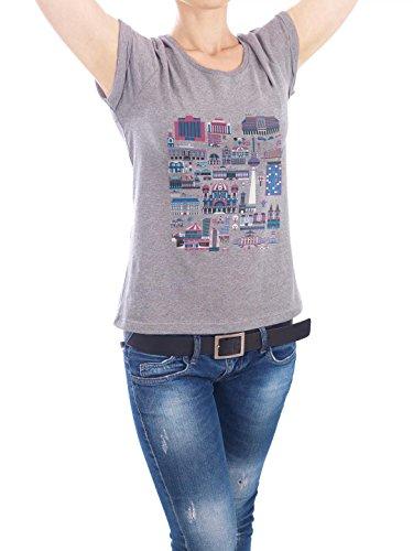 "Design T-Shirt Frauen Earth Positive ""Berlin-Mitte"" - stylisches Shirt Städte Städte / Berlin von Marius Rehmet Grau"
