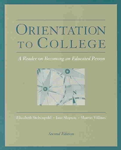 [(Orientation to College : A Reader)] [By (author) Elizabeth Steltenpohl ] published on (June, 2003)