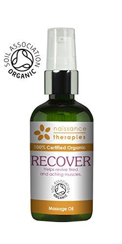 Naissance Recuperación - Aceite de Masaje BIO 100ml - Certificado Ecológico - con aceite de argán, jojoba y romero