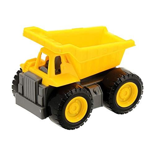 Bieco 19560117 Kipper, Spielzeugkipper für Sandkasten und Zuhause, Kipplaster zum Schieben und Beladen, Muldenkipper für Kinder ab 12m+, gelb