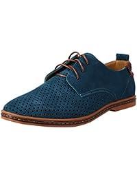 YiJee Estilo Británico Talla Extra Ocio Zapatos Cordones Zapatillas Para Hombre