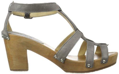 Aces of London Woman Sandal High Leather, Mules Femme Gris - Gris