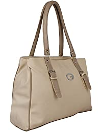 Paras Fashions Stylish Beige Color Synthetic Leather Shoulder Bag For Girls/Handbag For Women