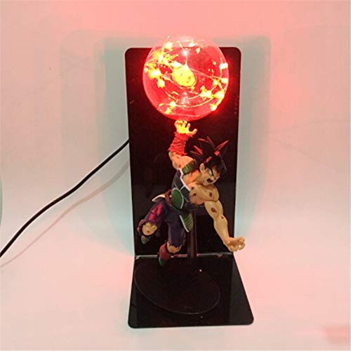 Dragon Ball Z Vegeta Son Goku Led Lámpara De Noche Bombilla Anime Dragon Ball Vegeta Goku Nightlight Home Decor Iluminación
