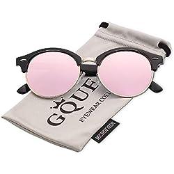 GQUEEN Bocina enculado Medio marco gafas de sol polarizadas GQ51