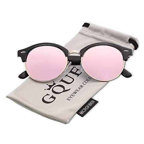 GQUEEN Klassische Horn Gestell Halbrahmen Polarisierte Sonnenbrille Markendesigner GQ51