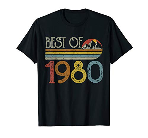 Best of 1980 T-shirt for Men or Women, choice of colours