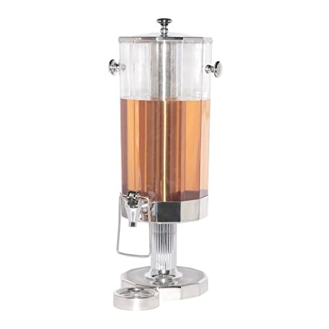 Service Ideas DDC11SSPS Beverage Dispenser with Ice Tube, Polished Stainless Steel, 11 L