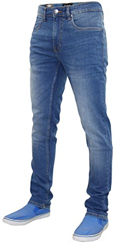 Pantalons de denim en coton pour hommes New Firetrap Deadly Skinny Jeans Stone Wash