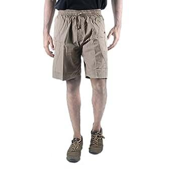 0-Degree Men's Regular Fit Shorts (ShortsBeige302_Beige Dark_30)