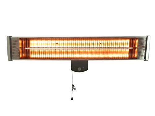 Sonnenstrahl Infrarotstrahler Professional, 1800 W, IP55 Spritzwasserschutz, Heizstrahler, Terrassenheizer mit Fernbedienung und Wandhalterung