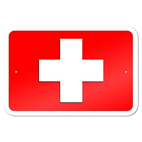 "Graphics and More 22,9 x 15,2 cm ""First aid Kit Kreuz"" Metall Schild"