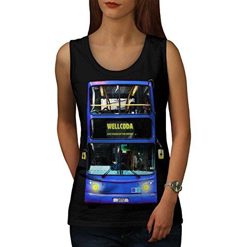 Vereinigtes Königreich London Bus Wellcoda Städtisch Stadt Damen S-2XL Muskelshirt | Wellcoda Schwarz