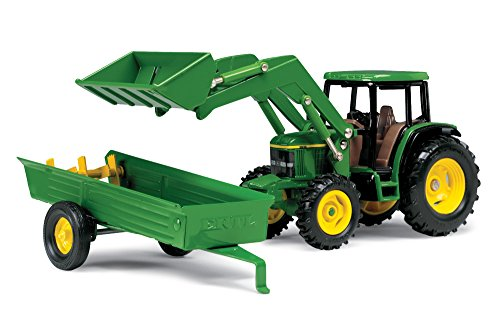 ERTL John Deere 6210Traktor mit Lader und Miststreuer, Maßstab: 1: 32 (Farm Deere Equipment John)