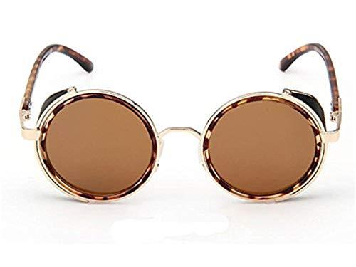 WooCo Reise Sonnenbrillen für Herren Damen, Runde Mode Vintage Retro Brille, Förderung Unisex Aviator Spiegel Objektiv Sonnenbrille(B,One size)