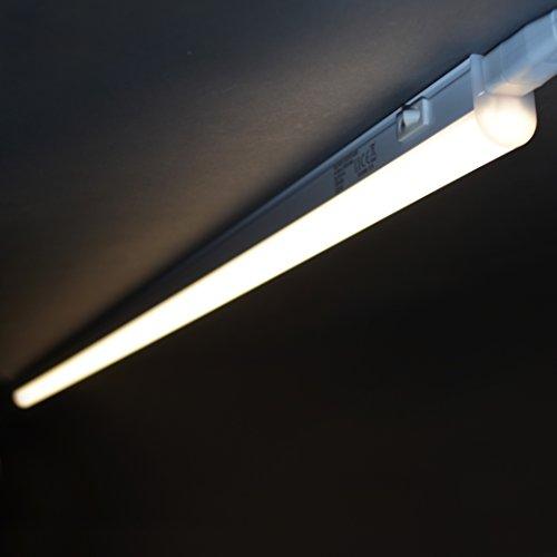 Briloner Leuchten 2379-146 A+, LED Unterbauleuchte, Unterbaulampe, Küchenlampe, Schrankunterbaulampe, Kunststoff, 14 W, Integriert, weiß, 117.3 x 2.2 x 3 cm