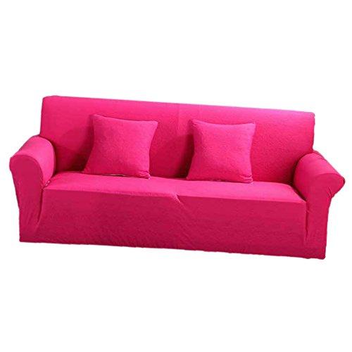 non-brand Sharplace Einfarbige Sofahusse Sofabezüge Stretch Sofabezug Sesselbezug für 2 Sitzer Sofa - Pink