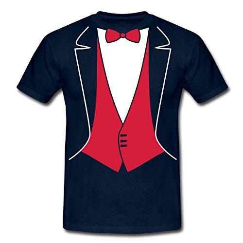 xedo Smoking Männer T-Shirt, 4XL, Navy (Blau Tuxedo Kostüme Shirt)