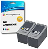 2 Druckerpatronen für Canon Pixma iP1800, iP1900, iP2500, iP2600, MP140, MP190, MP210, MP220, MP470, MX300, MX310 | kompatibel zu PG-37 (PG37), CL-38 (CL38)