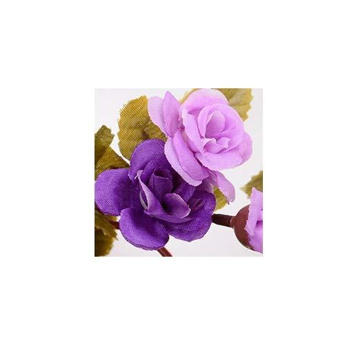 anjs456 Rosa Flor Artificial Pared Romántica Boda Arco Guirnalda Otoño Falso Hiedra Deja Decoración Del Hogar De Alta Calidad 2.3m Seda Rosa Rosa C